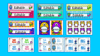 WINTER MONSTERS DECOR AND NAMEPLATES