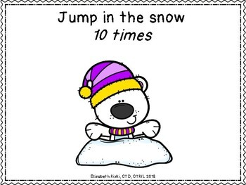 WINTER MOTOR STATIONS & BRAIN BREAK CARDS for all winter long! 50+ pages