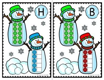WINTER Math - Count the Room – Ten Frames and Numbers 1 - 20 {SNOWMAN BUNDLE}
