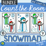 WINTER Math - Count the Room - Ten Frames and Numbers 1 - 20 {SNOWMAN BUNDLE}