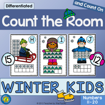 WINTER Math - Count the Room – Ten Frames and Numbers 11 - 20
