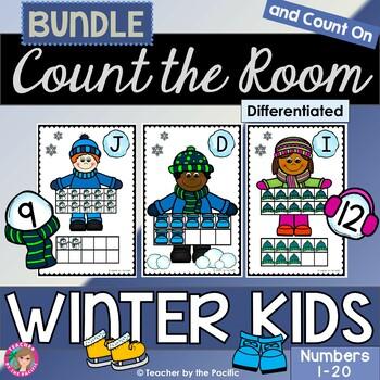 WINTER Math - Count the Room  {WINTER KIDS BUNDLE}