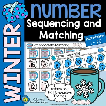 WINTER Math Number Sequencing and Matching  1 - 20