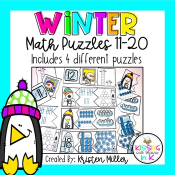 WINTER Math Puzzles 11-20- Includes 4 Different Puzzles!