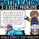 WINTER Math Task Cards--Multiplication Word Problems--4th and 5th Grade