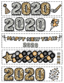 WINTER & NEW YEAR'S BOOKMARKS