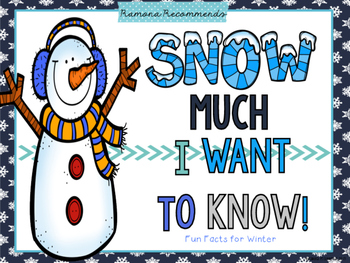 WINTER Non-Fiction Fun Facts For Kids