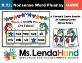 WINTER Nonsense Word Fluency RTI Game