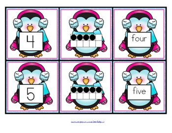 PENGUIN Number Matching Cards 0-10 FREE