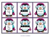 PENGUINS Number Matching Cards 0 -10 - Numeral, 10-Frames, Number Word