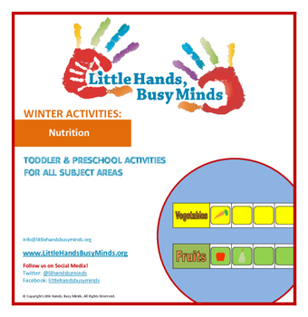 WINTER: Nutrition- Weekly Thematic Unit for Toddlers/Pre-K