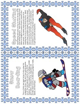 WINTER OLYMPICS BOOK and Response to Informational Text (COMMON CORE ALIGNED)