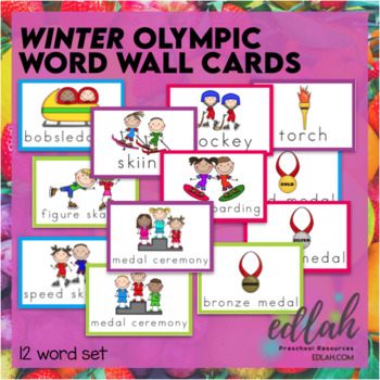 WINTER Olympic Word Wall Cards (set of 11)