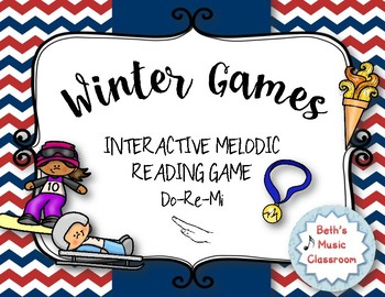 WINTER Games! Interactive Melodic Practice Game - RE (DRM)