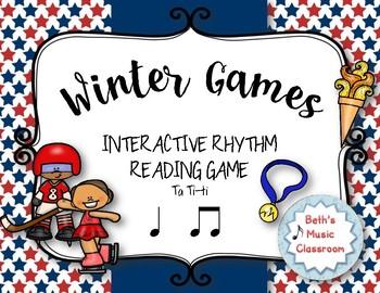 WINTER Games! Interactive Rhythm Practice Game - Ta Ti-ti