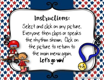 WINTER Games! Interactive Rhythm Practice Game - Ta-a