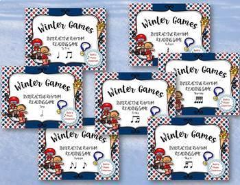 WINTER Games Rhythm Practice BUNDLE - 7 GAMES!