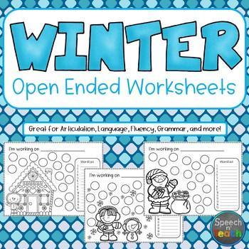 WINTER Open Ended Worksheets *Dollar Deal*
