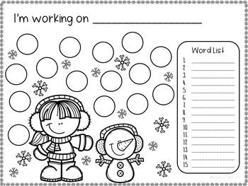 WINTER Open Ended Worksheets