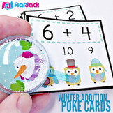 WINTER Owl Addition Facts Poke Game
