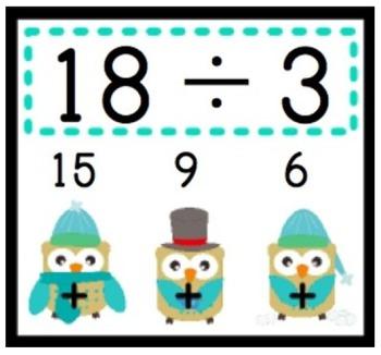 WINTER Owl Poke MATH FACTS Bundle