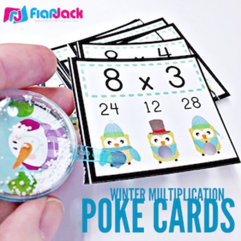WINTER Owl Poke MATH FACTS Bundle