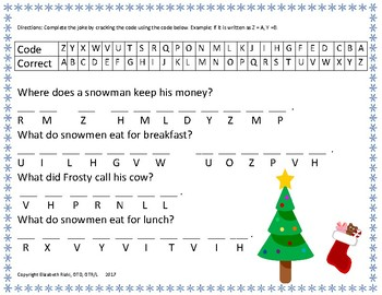 WINTER hole punch words, winter jokes, and listening to directions activity