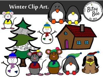 WINTER PALS CLIP ART