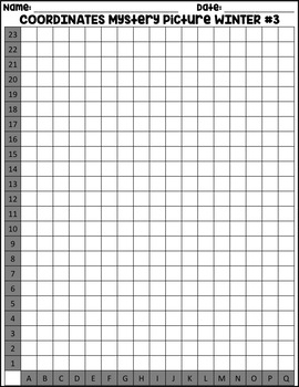 WINTER PENGUIN Coordinates Grid Mystery Picture