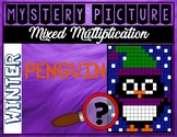 WINTER PENGUIN Mixed Multiplication Color by Number Myster