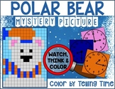 WINTER POLAR BEAR - Color by Number Mystery Picture - Tell