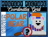 WINTER POLAR BEAR Coordinates Grid Mystery Picture