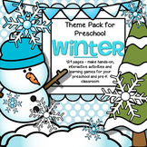 Big WINTER Theme Unit - Centers, Activities and Learning Games for Preschool