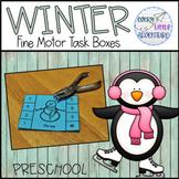 WINTER Preschool Fine Motor Task Boxes