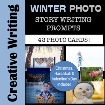 WINTER - Printable Photo Writing Prompt Cards - Journals and Literacy Centers