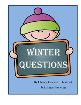 WINTER WH QUESTIONS- K-1st Grade