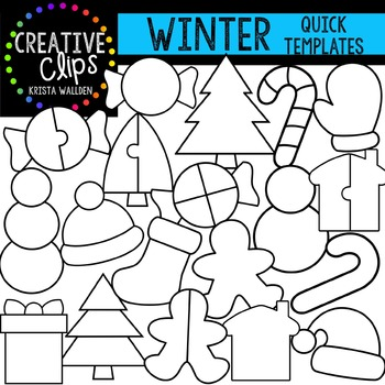 WINTER Quick Templates {Creative Clips Digital Clipart}