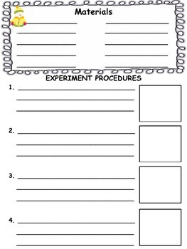 WINTER SCIENTIFIC METHOD - Experiment Log Booklet