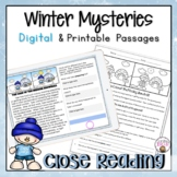 Winter Reading Comprehension Passages | Winter Close Reading