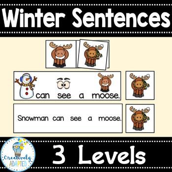 WINTER SENTENCES: Snowman's Friends (PreK-2/SPED)