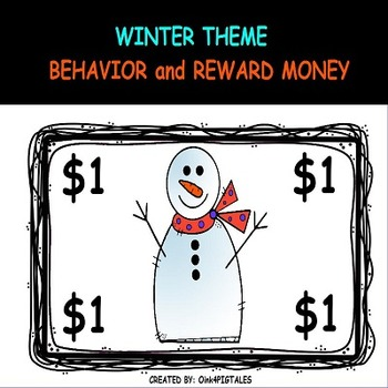 SNOWMEN MONEY REWARDS AND BEHAVIOR MANAGEMENT SET