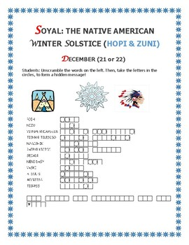 WINTER SOLSTICE: SOYAL: NATIVE AMERICAN SOLSTICE