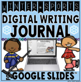 WINTER SPORTS DIGITAL WRITING JOURNAL IN GOOGLE SLIDES™ #t
