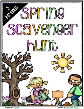 WINTER-SPRING-SUMMER AND FALL Scavenger Hunts - BUNDLED Nature Walk Exploration