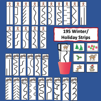 WINTER Scissors Skills Strips