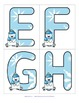 WINTER Large Alphabet Flashcards Upper and Lower Case - FREE