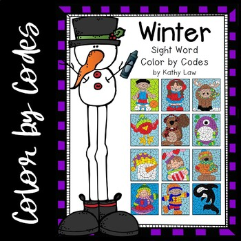 WINTER Sight Word Color by Codes