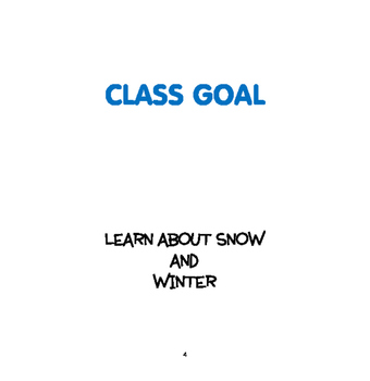 WINTER: Snow and Winter - Weekly Thematic Unit for Toddlers & Preschoolers