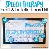WINTER Speech Therapy Craft & Bulletin Board Kit