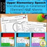 WINTER Speech Therapy Upper Elem Bundle Themed Vocabulary